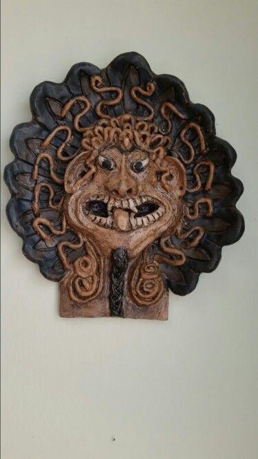 Aztec snake head