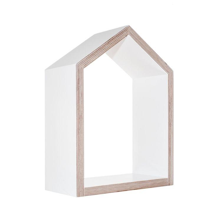 Półka Domek biały mały