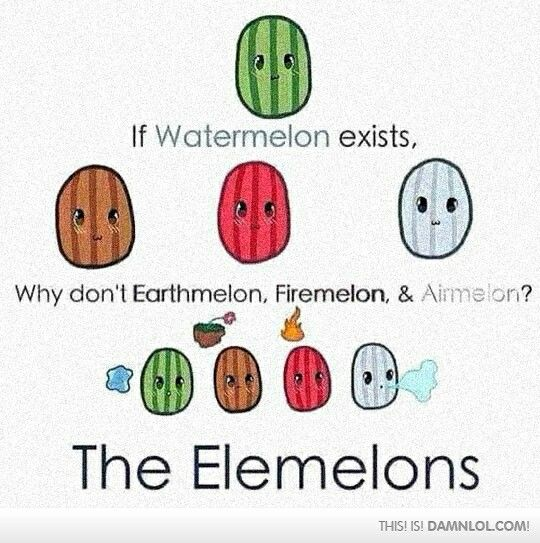 Long time ago, four elemelons lived in peace. And then the firemelon attacked