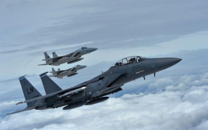 Lataa kuva McDonnell Douglasin F-15E Lakko Kotka, Amerikkalainen taistelija, sotilasilmailun, F-15C Eagle