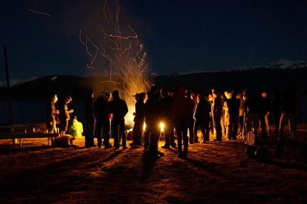 Fire pit party alaska