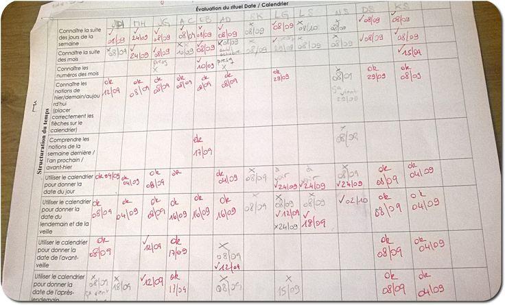 Nouvelles grilles d'observations Rituel date/Lecture/Maths