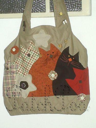 Bolsa con gatos