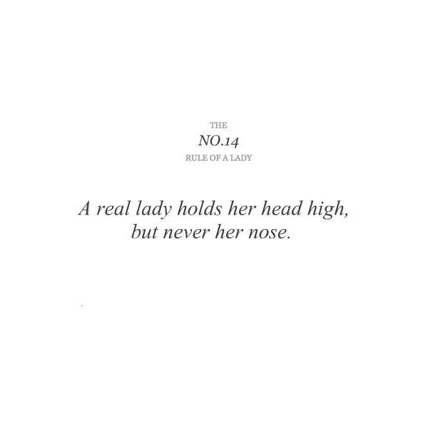 imgfave - amazing and inspiring images, found on #polyvore. #quotes #text rules of a lady #rules