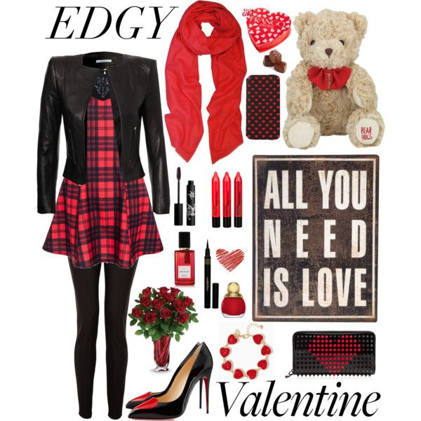 """edgy valentine {hijab style}"" by amandavicha on Polyvore"