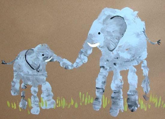 brother handprint art | Super cute idea big brother and little sister handprint