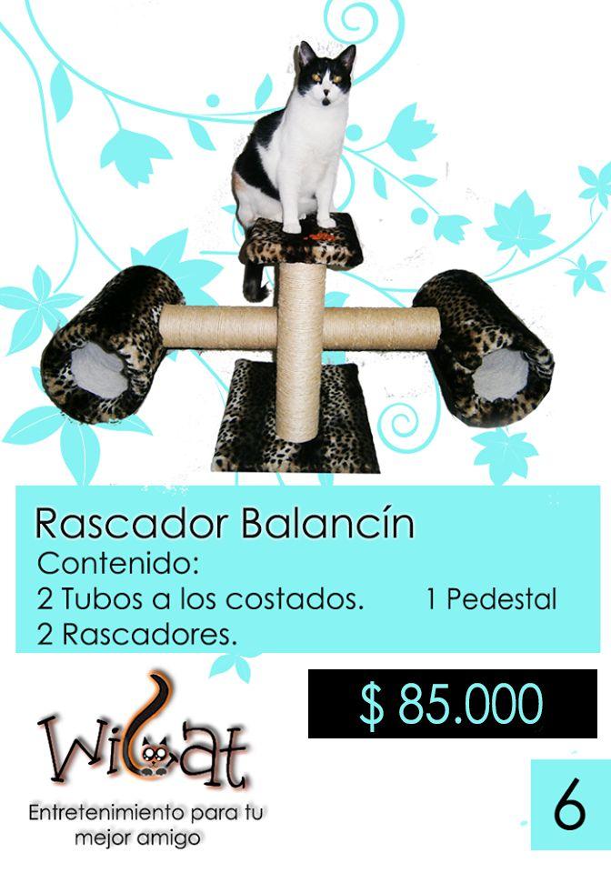 Rascador BALANCIN Encuentra más información en nuestro web site: wicatcolombia.wix.com/wicat o en Facebook:  www.facebook.com/Wicat