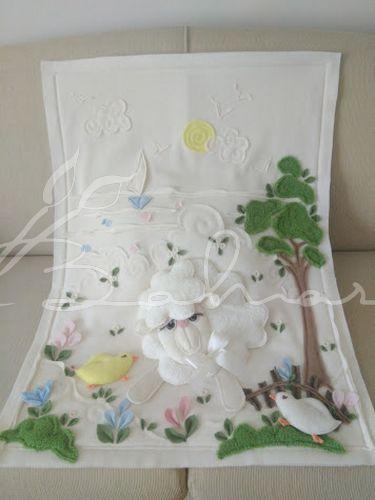 Kuzulu polar bebek battaniyesi  Baharca tasarım  handmade