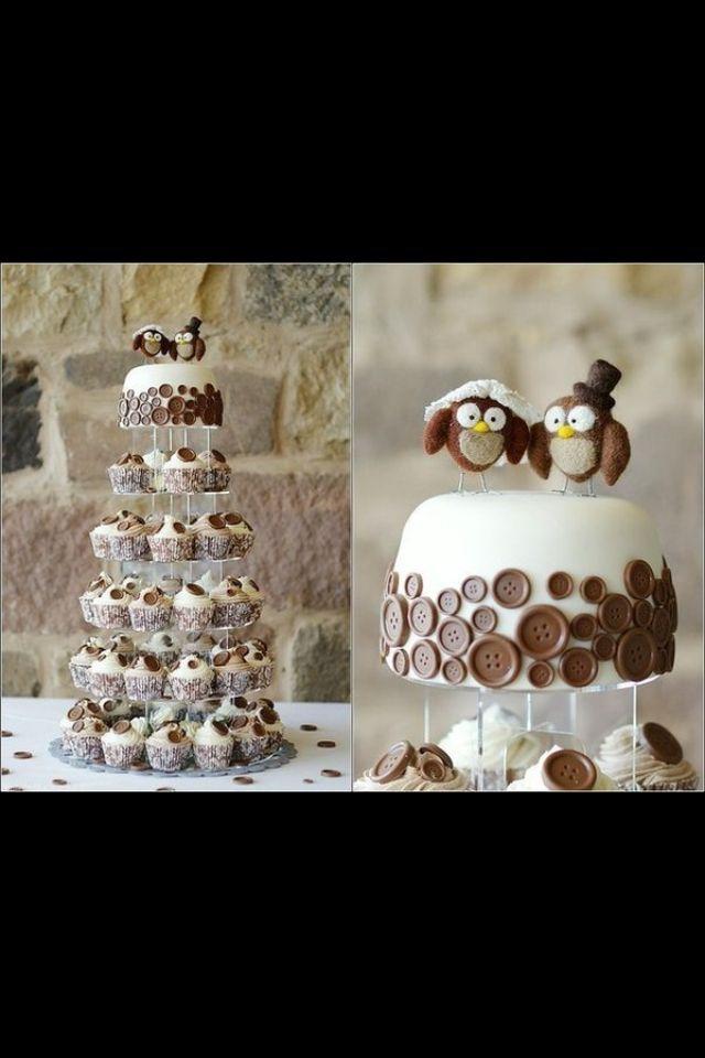 Торт с капкейками
