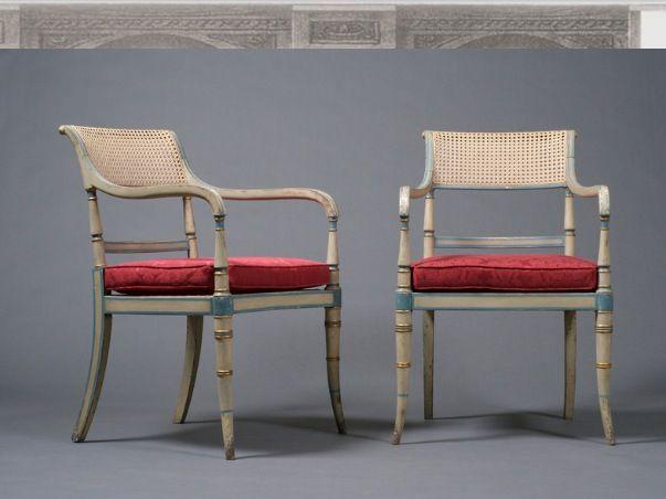 Max Rollitt painted regency chairs
