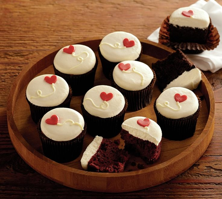 This Valentine's Day, share an assortment of elegantly decorated treats from more® Cupcakes of Chicago, which specializes in creating handmade artisanal bakery delights. These chocolate and red velvet Valentine's Day Cupcakes are crafted from premium ingredients, like Madagascar vanilla and Valrhona chocolate, ensuring that each dessert cupcake delivery is moist, rich, and decadent.