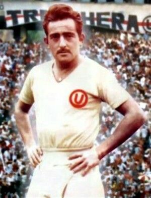 Alberto Terry of Universitario De Deportes & Peru in 1955.