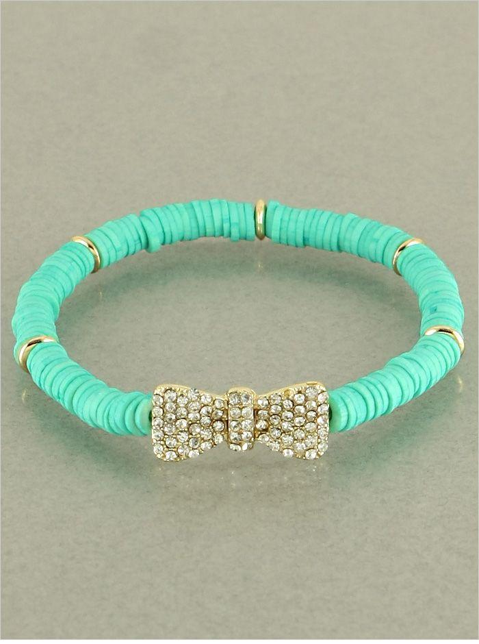 Mint Crystal Bow-licious Bracelet