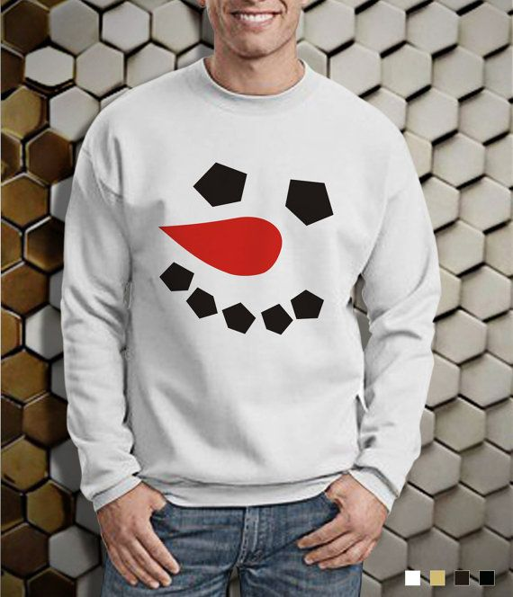Snowman Face Sweater  Snowman Sweater  Cristmas by POMPAPIA