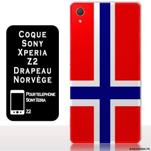 Coque de téléphone Sony Xperia Z2 Drapeau Norvege. #coque #telephone #sony #z2 #norvege