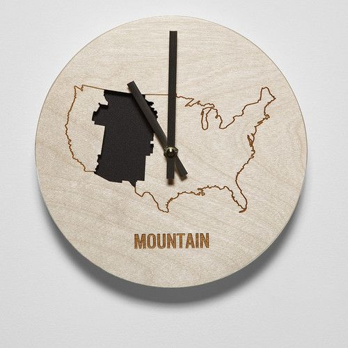 """Found it at AllModern - 8"""" Mountain Time Zone Clock"""