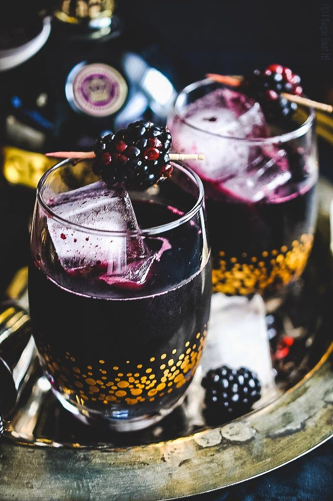 Blackberry Coulis Cocktail Image Via: I Sugar Coat It