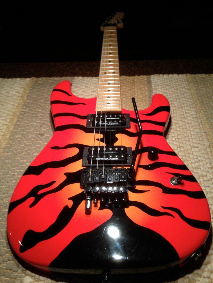 CHARVEL TIGER   Cool Animal Print Guitars   Strat guitar ...