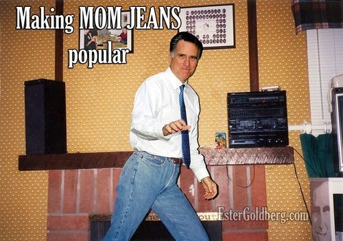 Romney wears Mom Jeans: Romney Memes, Funny Things, Wear Mom, Mitts Romney, Random Humor, Happy Places, Funny Stuff, Mom Jeans, Exact Moments