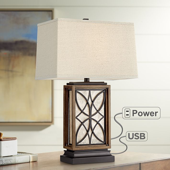 Arthur Night Light Table Lamp With Usb Port With Images Rustic