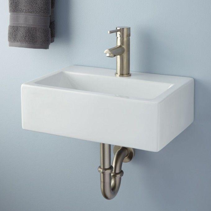 Victorian Ultra Petite Porcelain Wall Mount Sink