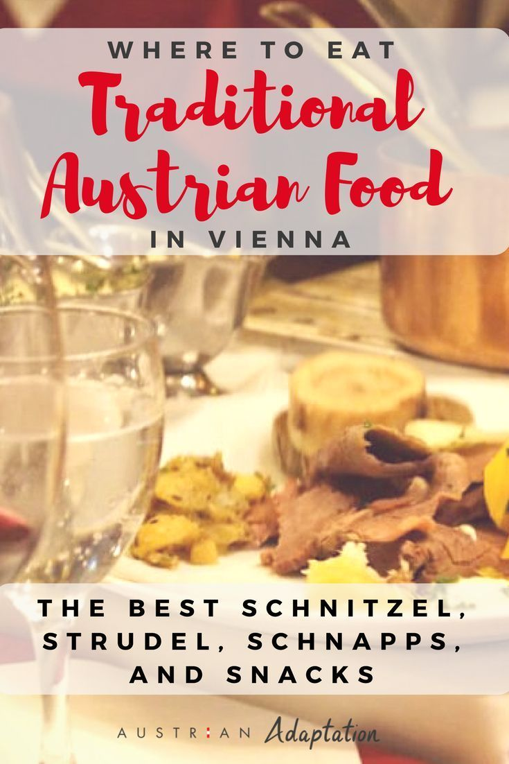 Looking for the top restaurants to go to and find authentic traditional Austrian food? These #restaurants in Vienna, Austria have the best schnitzel, strudel, schnapps, and snacks. You'll find the best seasonal meals, simple but quality food, traditional recipes and atmospheres, delicious wine and dessert for after dinner! Whether you're looking for some healthy or some tasty sweets...we've got you covered. #Vienna #Austria #traditional #food #restaurants #Austrian