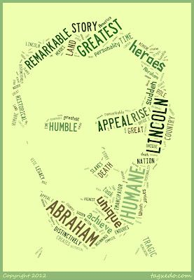 Create Abraham Lincoln word art for Presidents' Day. Free Biopoem template