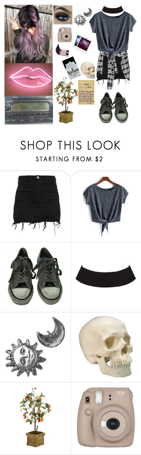 """""""I'm Going Back to 505"""" by living-among-the-moon-and-stars ❤ liked on Polyvore featuring AllSaints, Stefanie Sheehan Jewelry, Diane James, Fujifilm, Polaroid, indie, grunge and alternative"""