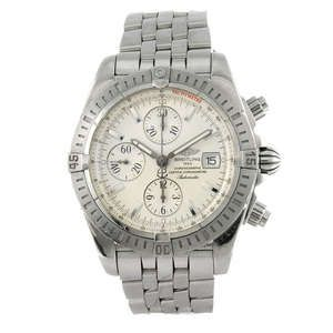 LOT:13 | BREITLING - a gentleman's stainless steel Chronomat Evolution chronograph bracelet watch.