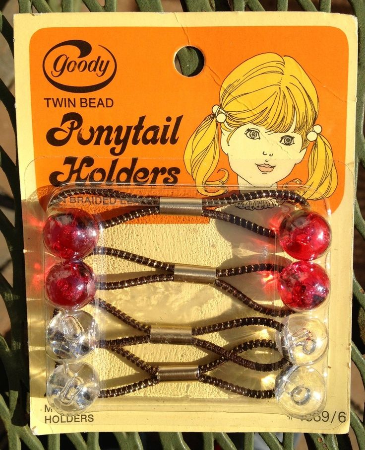Goody Ponytail Holders_1970's. Had all the colors. LOL