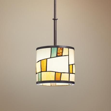 Kichler mihaela shadow bronze art glass mini pendant lampsplus com · lighting