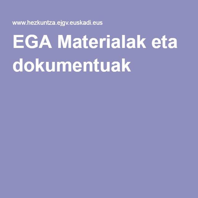 EGA Materialak eta dokumentuak