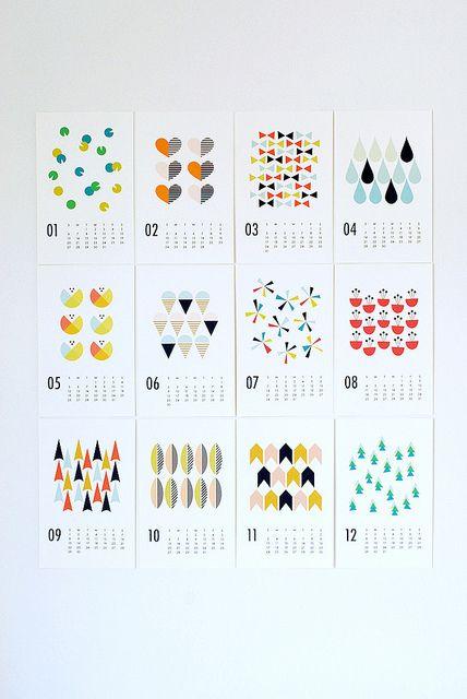2013 wall calendar by dozidesign, via Flickr Inspiration