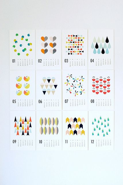 2013 wall calendar by dozidesign, via Flickr Inspiration