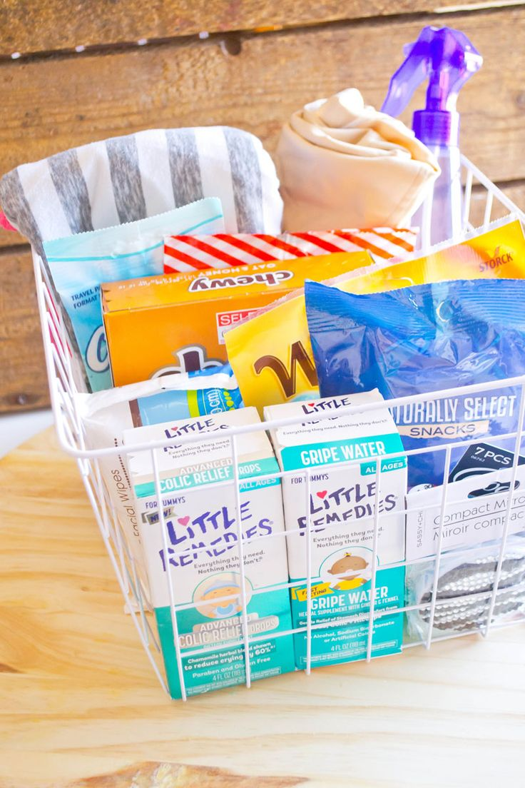 This gift basket is filled with tons of great ideas for your hospital bag. @Target #MyLittleRemedies #ad