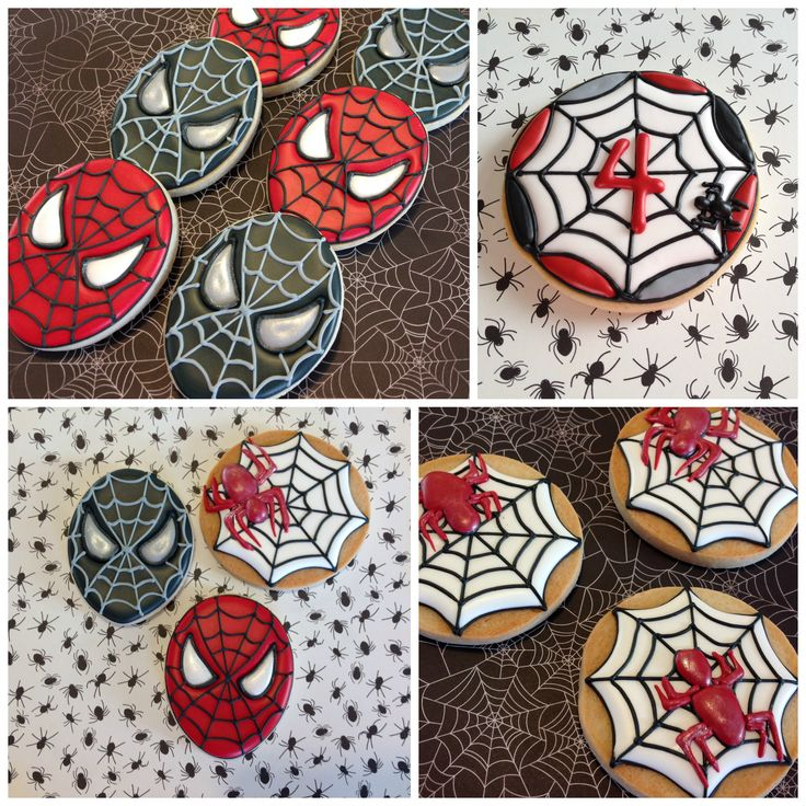 Spiderman sugar cookies. More at www.OneSweetTreat.com/blog #spiderman