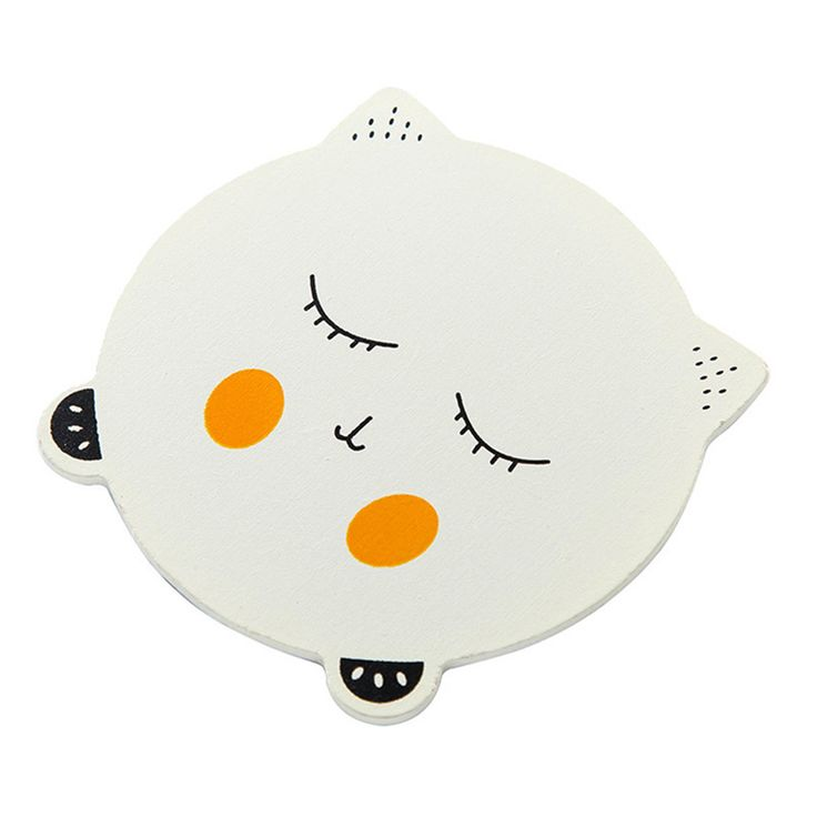Tenske placemat kids Cute Cat Emoji Coaster Colorful Cup Drinks Holder Mat Tableware Placemat*30 GIFT 2017 Drop shipping #Affiliate