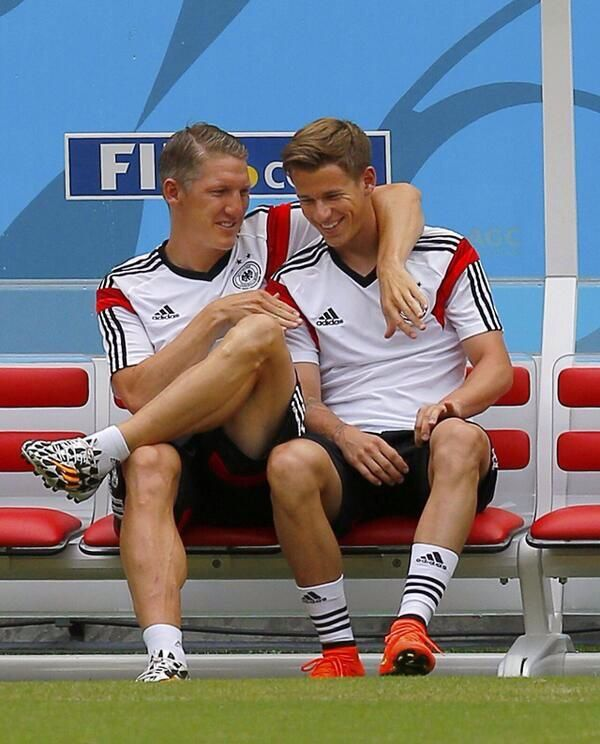 bastian schweinsteiger and erik durm german soccer