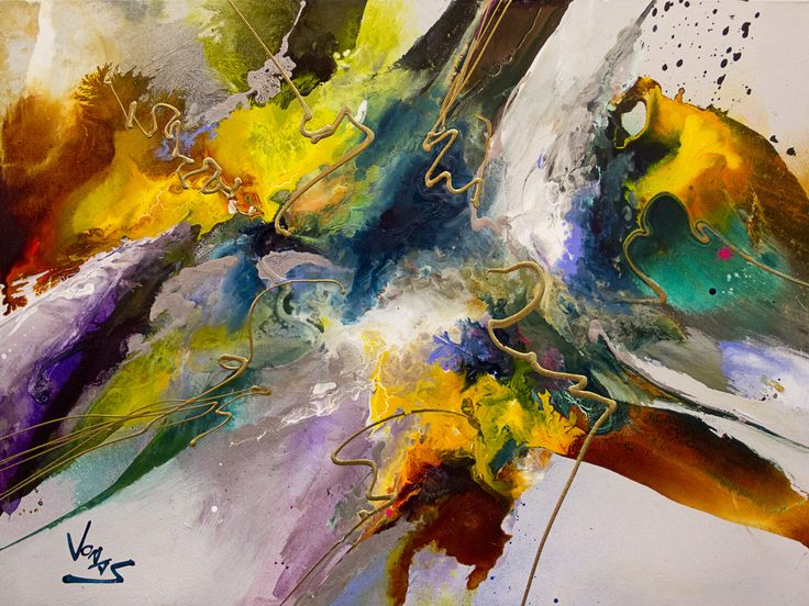 "Jonas Gerard ""Silent Shout #2""  - 30x40 Abstract Acrylic Painting"