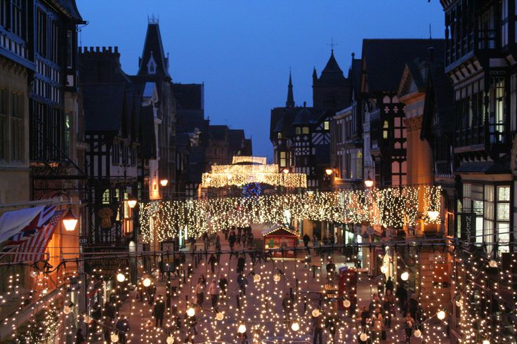 Christmas Lights in Chester.