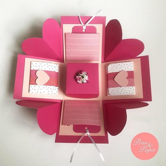 Ready Stock Love Explosion Box Love Exploding Box Etsy Explosion Box Diy Gift Box How To Make Box