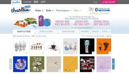 Threadless creative #ecommerce web design by Techidea