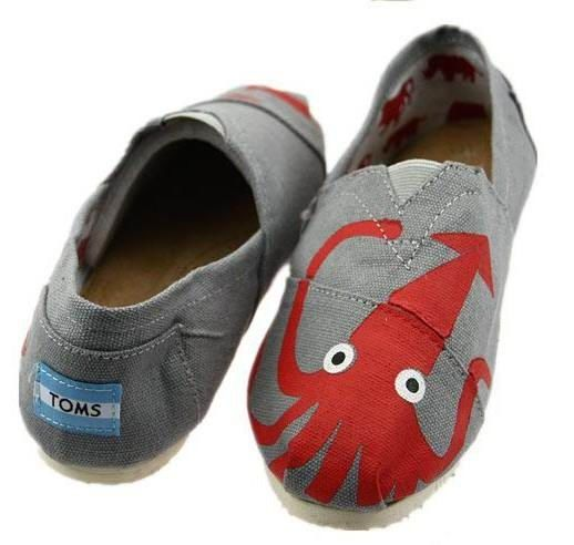 Classics Toms Gray Octopus Women Shoe : toms shoes sale,toms outlet online, welcome to toms outlet,toms outlet online,toms shoes outlet,toms shoes sale   $17