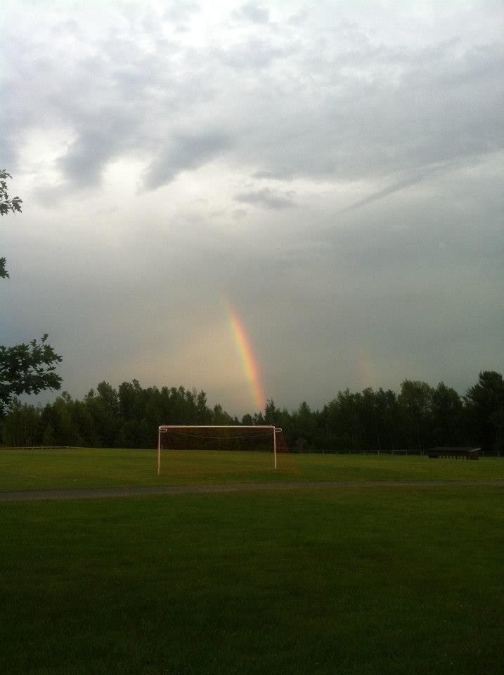 Rainbow at the ball park
