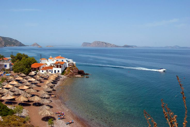 #Vlychnos Beach, #Hydra Island, #Greece.  http://www.cycladia.com/travel-guides-greece/hydra-guide-tips/