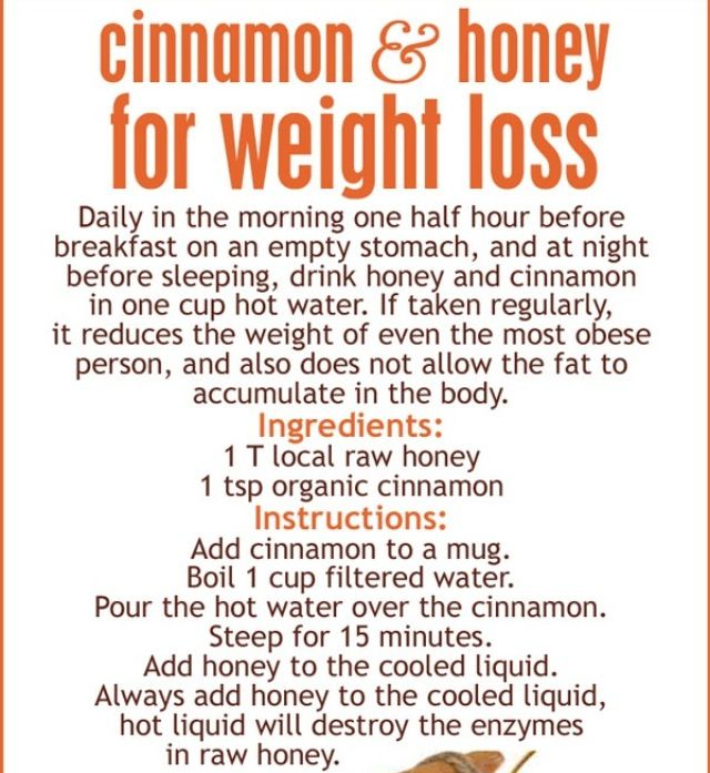water honey cinnamon weight loss