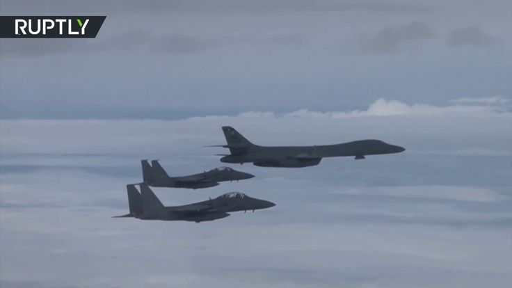 RAW: US bombers hold live-fire drills with South Korean Air Force