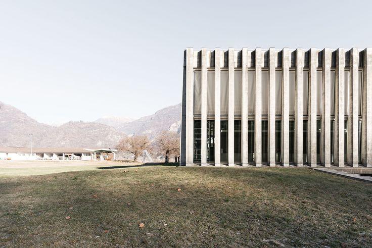 Studio Vacchini Architetti, Simone Bossi · Palestra di Losone · Divisare