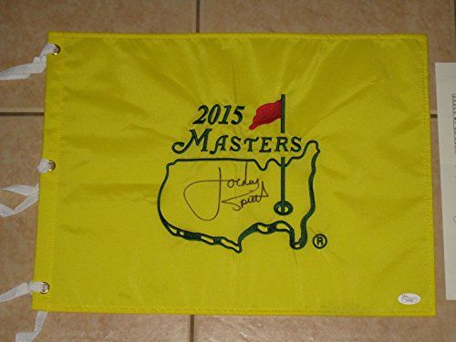 Jordan Spieth signed PGA Tour 2015 Masters Golf Flag – JSA letter – Winner