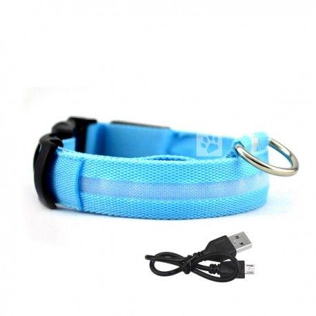 oplaadbare led halsband met verlichting blauw